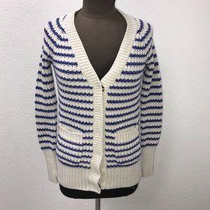 EUC Jcrew Stripe Cardigan Size XXS